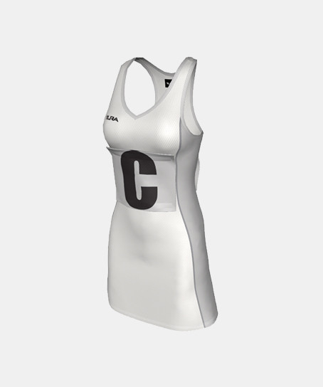 Ladies POWERPlay Zone Netball Dress With Side Panels